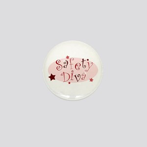 """""""Safety Diva"""" [red] Mini Button"""